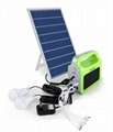 10W portable solar generating system removable lighting kits