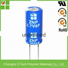 ultra capacitor ZNP2R7S505RS1020 2.7V 5F 10*20 10X20 mm super capacitor