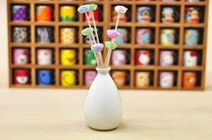 Wholesale ceramic bottle aroma ceramic flower diffuser gift set