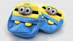 Plush Minions Backpack Hot Toy  Doraemon Mickey Kitty