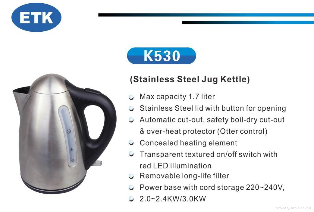 electric stainless cordles kettle top quality with warm function optional 2