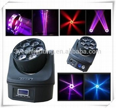 6PCS 15W B-Eye LED Moving Head Light Stage Lighting Bee Eye