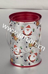 PVC handy kids Gift Tin Bucket with Christmas design