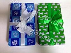 Metal Tin Christmas Kids Gift Storage Box