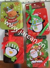 Metal Tin Christmas Kids Gift Storage Card Box