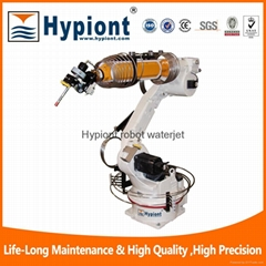 Robot waterjet cutting machine for automotive trim and cutting