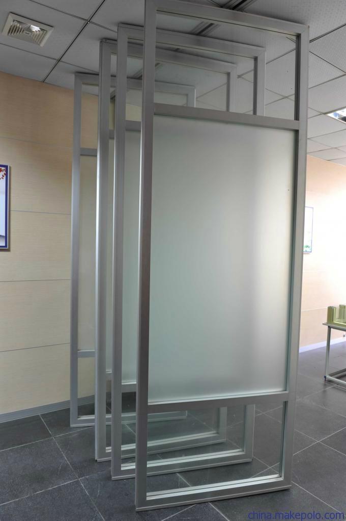 85型有框玻璃活动屏风 1