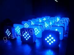 9 LEDS wireless battery par