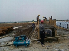inflated rubber mould for making concrete culvert