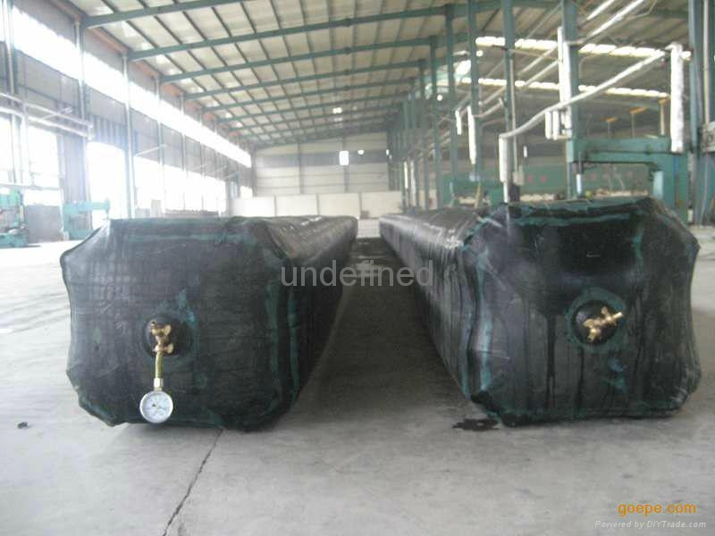 inflated rubber mould for making concrete cu  ert 3