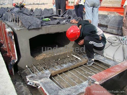 inflated rubber mould for making concrete cu  ert 5