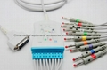 GE ecg/ekg cable with leadwire one piece cable