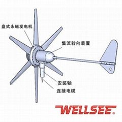 Factory selling maglev windmill generator 600W 400W 300W for home use WS-WT300