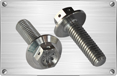 Titanium hex flange bolt for tube fitting or pipes