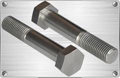 Titanium hexagonal bolt for pipe fitting or cars