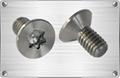 Titanium countersunk head torx screw