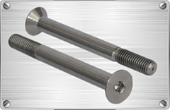 Titanium Countersunk Head Socket Screw for chemical industrial pipes