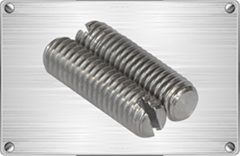 Titanium slotted screw for chemical
