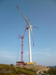 wind turbine generator crane machinery