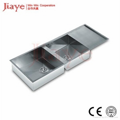 304 Stainless steel material kitchen handmade sink on sale for hotel JY-1165L1