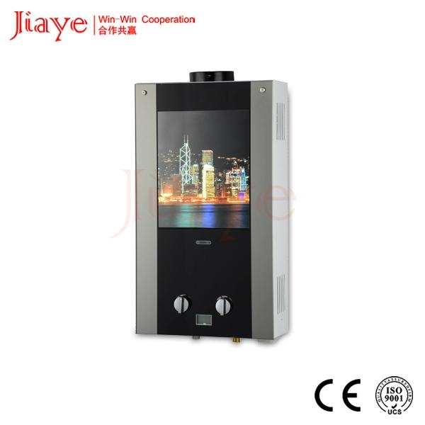 Colorful glass panel instant gas hot water heater JY-GGW023 1