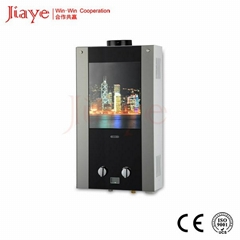 Colorful glass panel instant gas hot water heater JY-GGW023