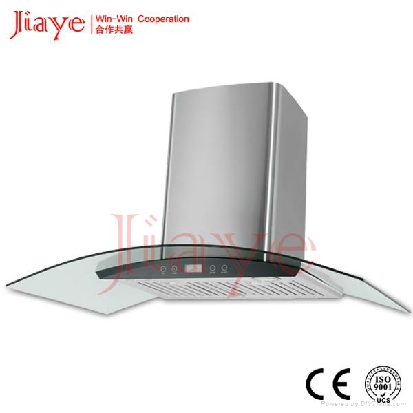 Baffle filter fume hood/3 speed extractor hood for kitchen used JY-HP9034 1
