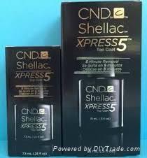2015 Cnd Shellac Xpress 5 Top Coat .25 & 5 FL Oz, 5 Minute