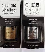 Cnd Shellac Top Coat And Base Coat Duo .25oz