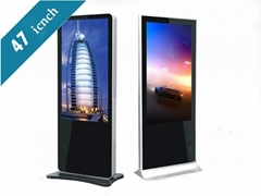 47 inch android floor standing digital signage