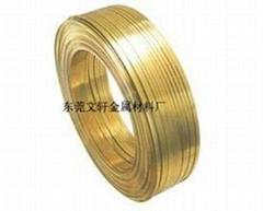 供應H65黃銅插頭扁線
