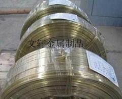 供应铜扁线黄铜拉链专用铜扁线