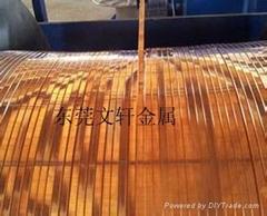 黃銅扁線廠家,黃銅線壓扁加工