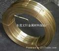 供应东莞1.45*6.25mmH65黄铜插头扁线 2