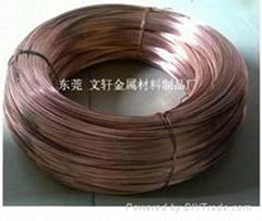 供应3.7*0.95H65拉链专用黄铜扁线
