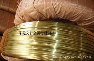 供应3.7*0.95H65拉链专用黄铜扁线 4