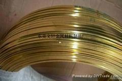 供应插头专用4.5*2.0mm黄铜扁线