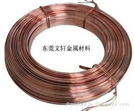 供应定做加工各类红铜扁线 1