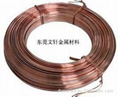 供應定做加工各類紅銅扁線