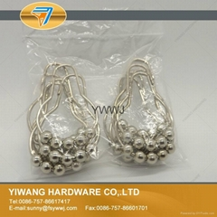 Directsale 5 beads 304 stainless steel shower curtain hooks