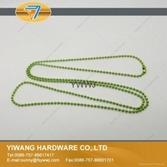 厂家直销 珠链挂饰 高品质珠链 彩色珠链条批发 浅绿色