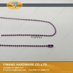 厂家直销 珠链挂饰 高品质珠链 彩色珠链条批发 紫色