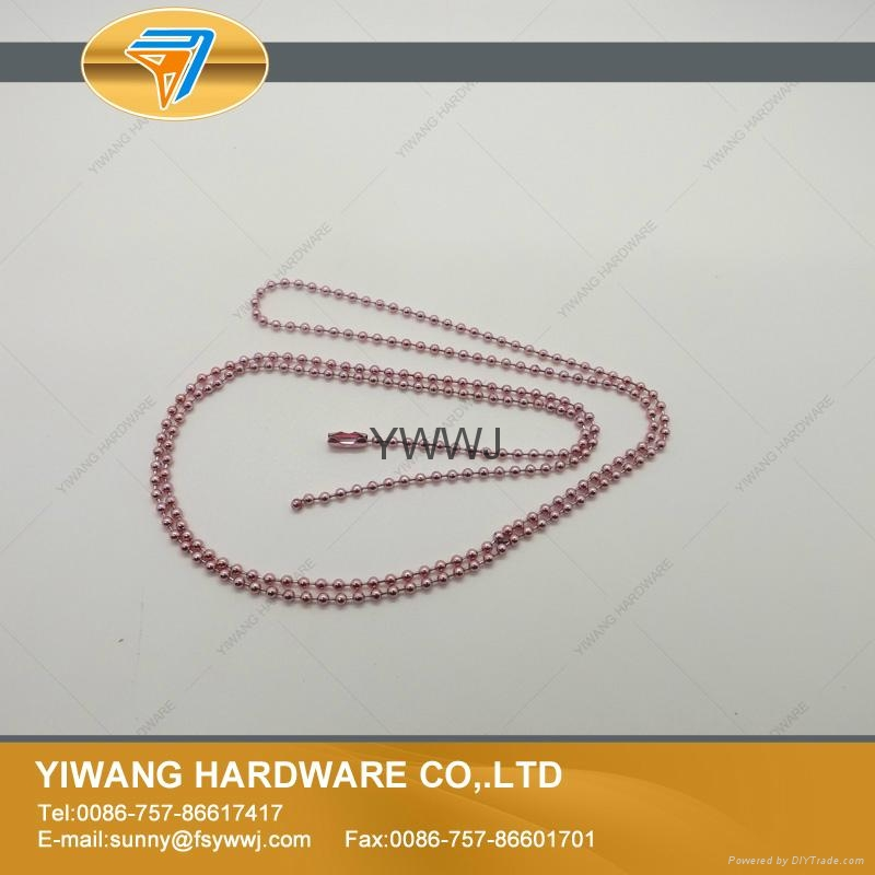 厂家现货 供应多规格环保金属珠链 彩色珠链 金属铁珠链 2