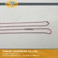 厂家现货 供应多规格环保金属珠链 彩色珠链 金属铁珠链 3