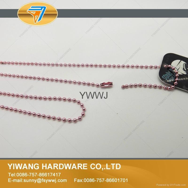 厂家现货 供应多规格环保金属珠链 彩色珠链 金属铁珠链 5