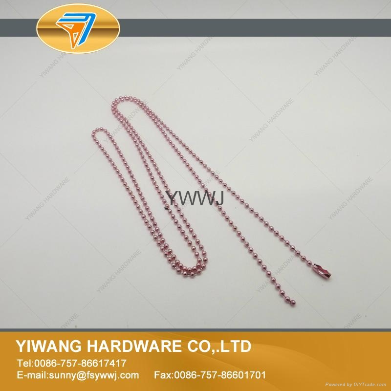 厂家现货 供应多规格环保金属珠链 彩色珠链 金属铁珠链 6