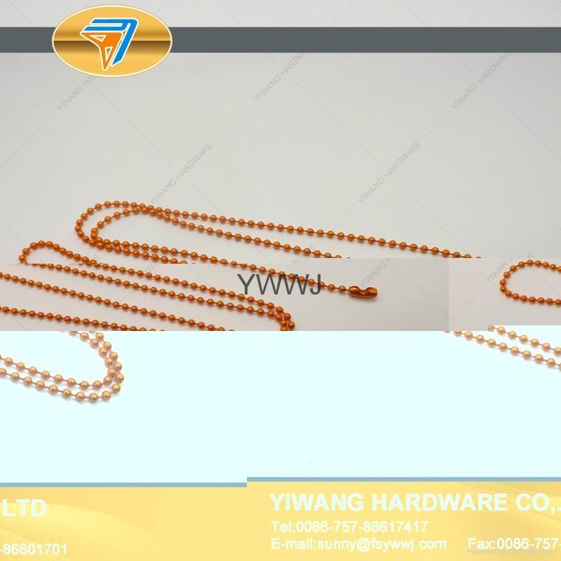 厂家直销 环保铁珠链 彩色服装吊牌铁珠链 挂件铁珠链子批发 1