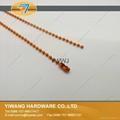 厂家直销 环保铁珠链 彩色服装吊牌铁珠链 挂件铁珠链子批发 2
