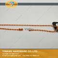 厂家直销 环保铁珠链 彩色服装吊牌铁珠链 挂件铁珠链子批发 3
