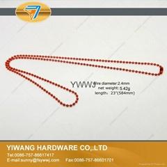 厂家现货 供应多规格环保金属珠链 彩色珠链 金属铁珠链 红色
